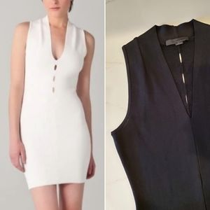 ALEXANDER WANG Black bodycon dress with cut out details